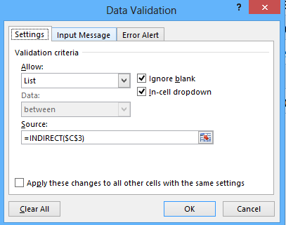 Taking the Data Validation Dropdown list to the next level